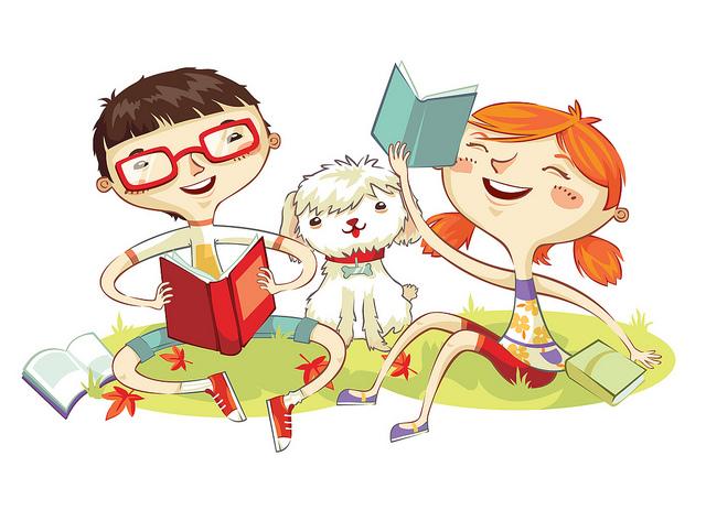 Imagenes de niños animados leyendo - Imagui