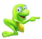 18653586-una-ilustracion-de-un-personaje-lindo-verde-rana-feliz-que-mira-a-escondidas-alrededor-de-un-signo-o