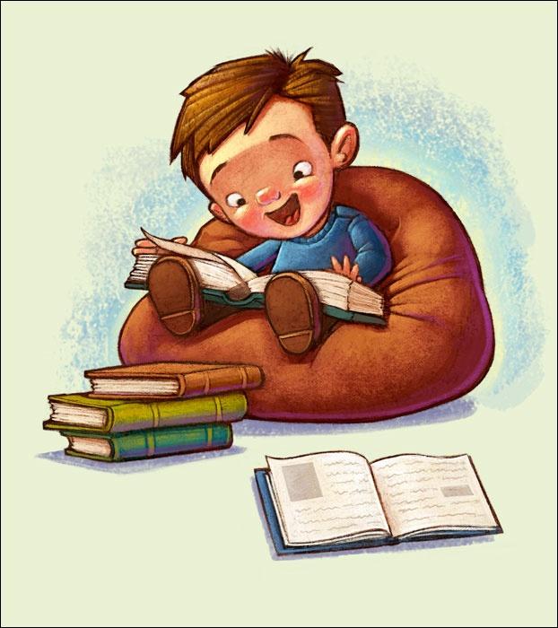 Leyendo libros para adultos por completo