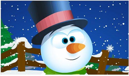 Free-Animated-Snowman-Wallpaper